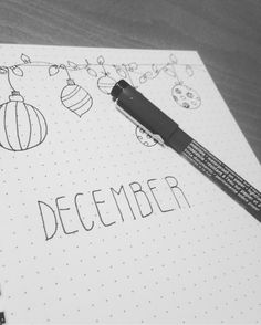 Preapering my bullet journal for December... . . . . . . . . #bulletjournal #monthlylog #bulletjournaling #creatinghabits #organize #mother #motherorganized #december #hellodecember #decorations #doodle #doodling #preapering
