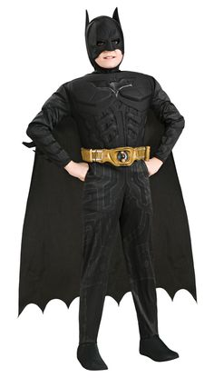 Child Deluxe Muscle Chest Batman Super Hero Costume : Get It On Fancy Dress Superstore, Fancy Dress & Accessories For The Whole Family. http://www.getiton-fancydress.co.uk/superheros/batmanrobin/childdeluxemusclechestbatmansuperherocostume#.UuudVvsry10
