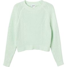 Monki Bobo knitted top (1.040 RUB) ❤ liked on Polyvore featuring tops, sweaters, shirts, jumpers, pick your poison, ribbed shirt, cable sweaters, mock neck shirt, green jumper and cable stitch sweater