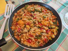 Receta de Arroz con verduras de dificultad Media para 4 personas lista en 30 minutos.