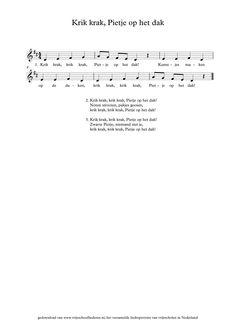 Krik krak, Pietje op het dak | Vrijeschoolliederen