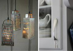 Kitchen items as kitchen decorations