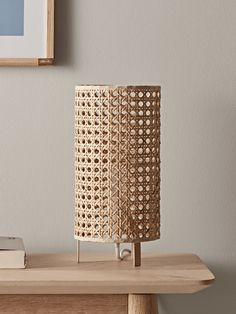 NEW Woven Cane Table Lamp - Lighting