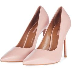 Topshop Gamble High Point Court Shoes ($70) ❤ liked on Polyvore featuring shoes, pumps, leather ballet shoes, pink shoes, ballet shoes, pink ballet shoes and pointy high heel pumps