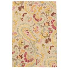 Add sophisticated color and pattern to your bedroom, living room, or dining room floor with this micro-hooked wool rug. A beautifully patterned paisley in muted shades of garnet, gold, juniper, and fuchsia, makes this wool area rug the ideal addition to both feminine and traditional bedrooms.