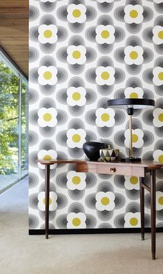 Orla Kiely for Harlequin - Striped Petal Wallpaper  at Heal's