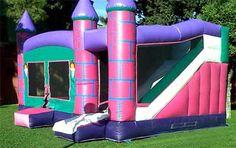 Castillo hinchable Niña 5x5x3,6 es como las camas elasticas con tobogán genial para celebrar eventos familiares como comuniones,bautizos,cumpleaños...