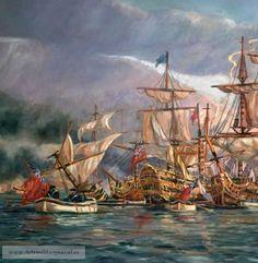 Blas de Lezo. Pintura Militar y Naval: Blas de Lezo contempla la victoria #BlasdeLezo