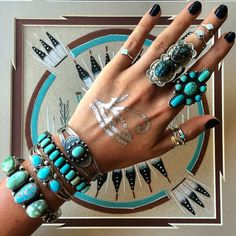 Layering turquoise