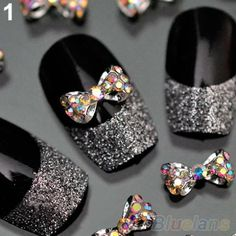 10pcs Nail Art Tips Stickers Deco Bow Knot Alloy Jewelry Multicolor Glitter Rhinestone nail gel  00Y8-in Rhinestones & Decorations from Health & Beauty on Aliexpress.com | Alibaba Group