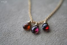 ATELIER Gaby Marcos - Tundra Sapphires & Goldfilled. Marsala Color of 2015. @ateliergabymarcos
