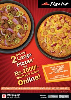 Get 2 Classic Pizzas for Rs.2000!