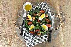 Salade met ei, tomaat en walnoot #Avogelrecepten