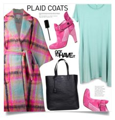 """""""Pattern Mix: Plaid Coats"""" by marina-volaric ❤ liked on Polyvore featuring Delpozo, Yves Saint Laurent, Preen, Marc Jacobs and plaidcoats"""