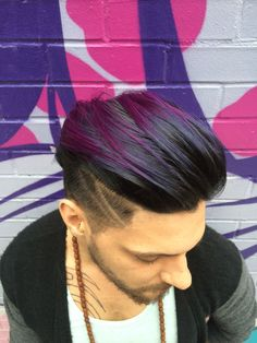 The gallery for dark purple hair men: ideas about men hair color on Mens Hair Colour, Hot Hair Colors, Cool Hair Color, Trending Mens Haircuts, Haircuts For Men, Popular Hairstyles, 2015 Hairstyles, Cool Hairstyles, Hairstyle Men