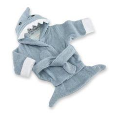 Baby Aspen Let The Fin Begin Terry Shark Robe Blue 0-9 Months
