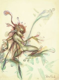 """Brian Froud - Pressed Fairy - Published in """"Lady Cottington's Pressed Fairy Book"""" by Terry Jones & Brian Froud (Pavilion Books Ltd., UK, 1994"""