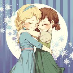 Frozen~Elsa and Anna Hans Frozen, Frozen Art, Frozen And Tangled, Anna Y Elsa, Frozen Elsa And Anna, Disney Frozen Elsa, Frozen Queen, Queen Elsa, Disney And More