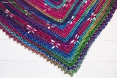 Free Crochet Pattern: Dragonfly Bandana Scarf