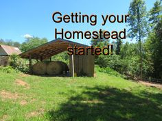 Getting your Homestead started!