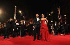 Daniel Craig and Berenice Marlohe attend the Royal World Premiere of 'Skyfall' at the Royal Albert Hall on October 23, 2012 in London, England.