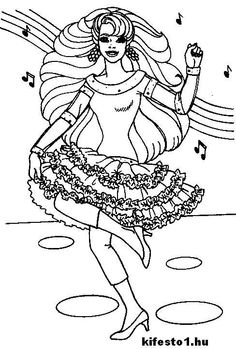 african american coloring pages | african american barbie ...