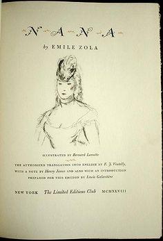 Nana by Émile Zola; Illustrated by Bernard Lamotte. (1948)