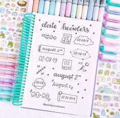 Bullet Journal Headers and Banners That You Need To Try! - Nikola Kosterman - Bullet Journal Headers and Banners That You Need To Try! – Nikola Kosterman Bullet Journal Headers and Banners That You Need To Try! Bullet Journal Inspo, Bullet Journal Titles, Bullet Journal Banner, Journal Fonts, Bullet Journal Aesthetic, Bullet Journal Notebook, Bullet Journal School, Journal Themes, Bullet Journal Header Fonts