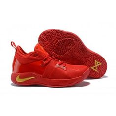 7200ab3bf31 Latest Style Nike PG 2 Paul George October Red Gold Men s Basketball ...