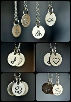 custom tiny symbol necklace ... muyinjewelry.com  >> Love these!!