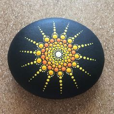 Looking for a mandala stone but can't find exactly what you are looking for? MADE TO ORDER - Mandala Stone. - - - stone sizes range between Stone Art Painting, Dot Art Painting, Mandala Painting, Pebble Painting, Pebble Art, Mandala Art, Painting Tools, Mandala Painted Rocks, Mandala Rocks