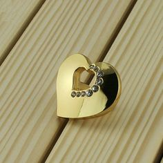 Gold Silver Knobs Heart Clear Crystal Knobs Handle/ Drawer Knobs Handles Glass…