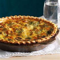 Mushroom Broccoli Quiche Recipe | Taste of Home