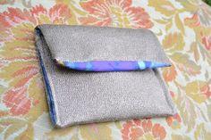 handmade briefcase (outside: melange tissue, inside: multicolor tissue)