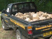 Guess the number of logs in the truck. A local firewood contractor donates a truck of logs to the person who makes the closest guess