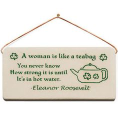 Strong Woman Quote Plaque