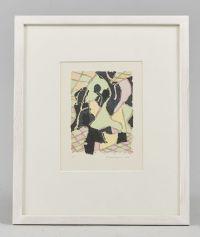 Färglitografi, Lennart Rodhe (1916-2005), 1990, EA-upplaga, motivet: 13x9…