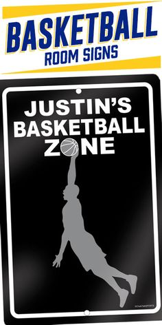 Personalize this basketball room sign with your name and favorite colors. If you like this room sign, check out the complete collection on our site, chalktalksports.com