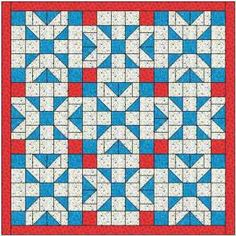 The State of Oregon quilt block has an unusual layout and makes an interesting quilt with plenty to look at.