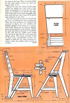 Ladder Chair Plans - Furniture Plans