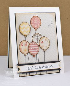 It's Time to Celebrate  Handmade Card by banders03 on Etsy