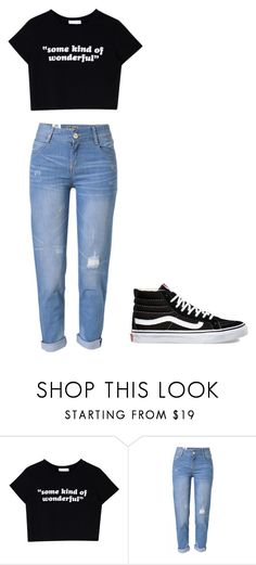 """""""Untitled #360"""" by thenerdyfairy on Polyvore featuring WithChic and Vans"""