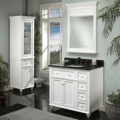 White #Bathroom #Vanities