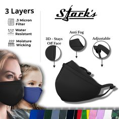 $12.95 | Stark's Face Covering | Free Shipping | Buy 4 Get 1 Free Dust Filter, Masks For Sale, Deodorant, Moisturizer, Free Shipping, Infographic, Layers, Health Products, Planting