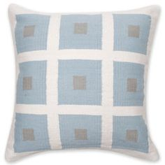 "Jonathan Adler - Reversible Blue And Grey Peter Pop Throw Pillow - $180 - 20x20"""