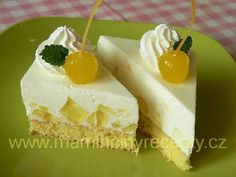 Osvěžující citronové řezy