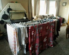 The Thrifty Housewife: How to prepare for doing laundry during a power outage (or dryer outage) in winter!