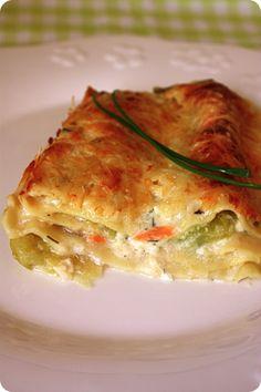 lasagne courgettes chèvre saumon