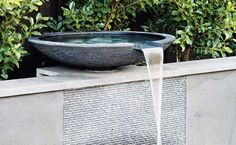 contemporary bowl water feature