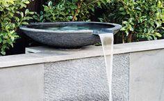 Sleek water feature